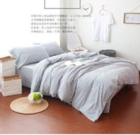 Wholesale Reactive printing Washed cotton Bedding set Soft bed sheet cover pillowcase