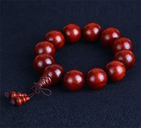 Wholesale 2 India lobular red sandalwood glass bottom high oil high density with Venus beads bracelets Bracelet beads