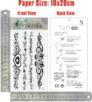 Cheap reeship 6pcs lot GF310,Chain Temporary Tattoo waist,hand,shoulder Flower,Butterfly,lettering foamposite tattoo stickers CE stickers croco...