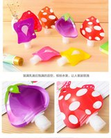 bath decals - 30ml Fashion Silicone Cosmetic Points Bottling Lotion Shampoo Bath Shower Gel Tube Container Travel Packing Bottle