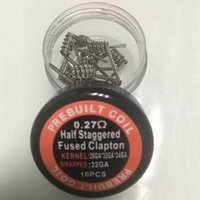 Wholesale Super Juggernaut Super Clapton Staggered Staircase Clapton Twisted Wire Premade Wrap Wires Prebuilt Resistance Coil for RDA vape box