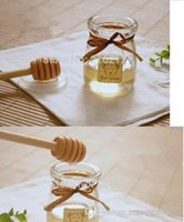 Wholesale 2000pcs cm MINI Wooden Honey Dippers Wedding Favors