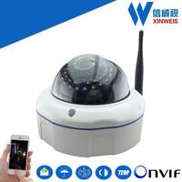 Wholesale 1280x720 P MP H Outdoor Wireless WiFi ONVIF P2P IR Night Vision Dome IP Security Camera ONVIF