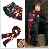 Wholesale 16 Fashion Harry Potter Scarves winter School Unisex Striped Scarf big size Scarves Christmas scarfs Gift
