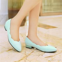 large size high heel shoes - Flats PU loafers new Shoes Woman high heel CM Large size Small yards EUR Size