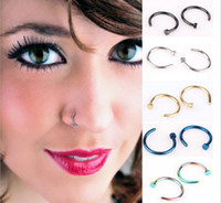 Wholesale High Quality Nose Rings Body Art Piercing Jewelry Fashion Jewelry Stainless Steel Nose Open Hoop Earring Studs Fake Nose Ring