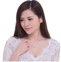 Wholesale Birthday gift s925 silver beads transit clavicle chain necklace female silver jewelry Japan and South Korea female pendant accessories