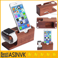 Wholesale TOP Quality Apple iWatch Charging Stand Wood Dock Station Charger Holder Stand for iphone plus and Apple Watch iwatch mm mm