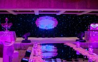 Wholesale Many Size Fashion Blue White Colors LED Star Curtain Wedding Backdrop Decoration Cloth With Controller