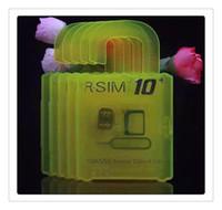 Wholesale HOT R SIM10 plus RSIM R SIM R SIM10 For iphone S plus S C G S IOS9 IOS GSM CDMA WCDMA G G G unlock sim R