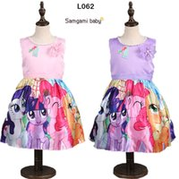 Wholesale 2016 hot girl summer new direct cartoon little princess Ma Baoli rose dress my little pony party Lolita clothing Y