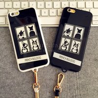 bag strap material - iPhone plus Cover with Strap Cartoon Pattern Silicone frosted Acrylic material For iphone s plus s se with OPP BAG