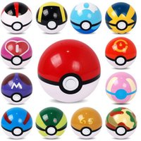 Wholesale Poke Ball Toy Pocket Monster Ball Pokeball Anime Pikachu Ball Cosplay Pop up Master Ball Action Figures Christmas Toys cm C26 colors
