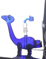 best dinosaur - Blue Cool dinosaur Glass Bongs Best Selling Artificial Blow Water Pipes With mm Joint Banger BOngs Hookahs Shisha