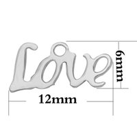 Wholesale Hot Sale Stainless steel Mini Love Charms For DIY Alex and Ani expandable bangles Bracelets For Women Extended End Tail Chain Charms