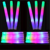 Vente en gros mousse de mousse led coloré clignotant mousse glow stick, mousse lumineuse lumière mousse B1006