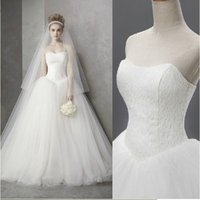 Wholesale 2015 Elegant Sexy Wedding Dresses Satin Bridal Ball Gowns New Arrival size