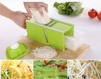Wholesale Brand New household kitchen multifunction shredder machine rub cucumber strips inserted cutting board cut potato slicer grater