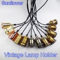 aluminum bronze wire - New Vintage Pendant Light Lamp Holder Aluminum Bronze Hanging Brass Holder AC V E27 Pendant Lamp Holder Wire Ceiling Base