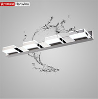 Wholesale Hansvinu Brand cm W heads LED Modern Acrylic Wall Lamp Bathroom Mirror Light Stainless Wall Sconce Led Light Factory