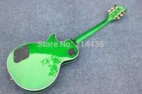 chibson - 2015 New Factory Chibson custom shop electric guitar quot cloudy maple veneer top quot green burst electric guitar