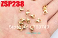 Color de oro 9 # 9mm acero inoxidable 316L gancho de corchete de langosta gancho accesorios de la joyería accesorios cadena collar SP238