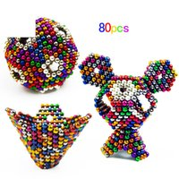 Wholesale Vacuum Package mm Size N35 Magnetic Balls Magic Toy Neo Cubo Puzzle Magnet Block Magico Education Toy Magic Cube bag card