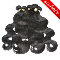Wholesale 8A Unprocessed Brazilian Human Hair Malaysian Indian Peruvian Hair wefts Body Wave Human Hair Extensions Bundles
