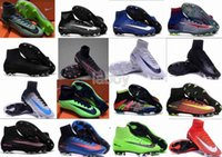 Wholesale 2016 Newest Mens V VI Soccer Shoes SuPeRflY MerCURial FG CR7 Football Boots soccer cleats soccer boots hypervenom size mens US6