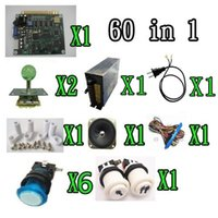 Wholesale 1 kit classical arcade game in power supply speaker lighted joystick lighted button P2P button jamma wire PCB feet