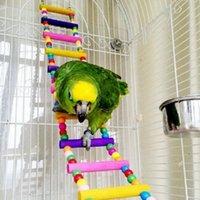 Wholesale cm Pet Bird Wooden Swing Flexible Small Pets Climb Ladder Bird Parrot Toys Your Best Choice