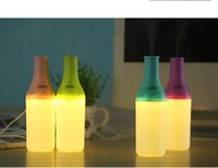 Wholesale 2016 Fashionable Cool Bottle ml USB Mini Humidifier LED Night Light Air Purifier Essential Oil Diffuser Aroma Mist Maker Home Humidifier