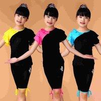 Wholesale Children s Dancewear Children Dance Costume Girls Clothes children Latin dance clothing children s dance Clothing short sleeved Summer Suits