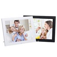 achat en gros de cadres photos numériques film-Cadre photo numérique HD Bright TFT LED Films numériques MP3 Réveil Photo Frame Photo Smart Home Décalque Cadre Photo EU Plug