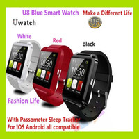 Wholesale U8 Bluetooth Smart Watch Fashion Casual Android Watch Digital Sport Wrist LED Watch Pair For iOS Android Phone VS DZ09 GT08 A1 Smartwatch