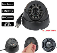 dome camera - 1MP USB CMOS HD indoor SD Card Dome LED IR Night Vision Security Surveillance Camera MINI Video Recorder System CWH K802 H303