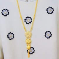 american chain company - The atmosphere of high grade sweater chain Ruili fashion nouveau riche struck gold necklace gold plating company issued