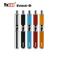 Wholesale Authentic Yocan Evolve D Starter Kit dry herb pen Vaporizer with Pancake Dual Coils mAh Battery ego thread atomizer