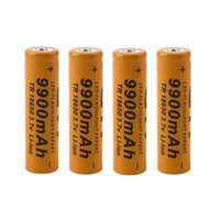 Wholesale New set battery V mAh rechargeable liion battery for Led flashlight batery litio battery