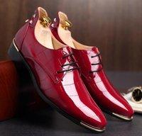 Wholesale 2016 white men s shoes Splicing han edition fashion personality groom dress shoes Wedding shoes single shoes Men s shoes