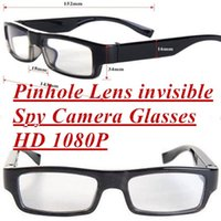 audio hole - 1080P HD Spy Camera Glasses Hidden Video Glasses Recorder GB Mini Eyewear DV Camcordder Audio Recording Glasses No Hole