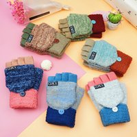 Wholesale Ladies Gloves Knit Rabbit Hair Fingerless Women Winter Gloves Patters Many Colors Pairs Drop Shipping