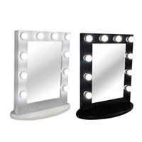 beauty frames - Hollywood Tabletops Makeup Lighted Mirror Vanity Light with Dimmer Aluminum Frame Stage Beauty Mirror FREE LED bulbs
