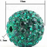 Wholesale 10mm pack Green Shamballa Crystal Beads FashionChristmas gift shamballa Necklace Bracelet Earrings bead earring beads earring nec