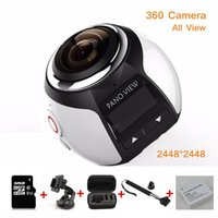 Wholesale New Portable Excelvan WIFI K fps MP Sport Action Camera Degree Ultra HD Mini Panoramic Video D VR Camera