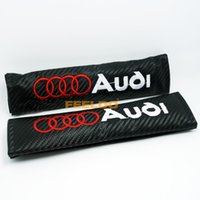 audi belt - 2PCS High quality of Carbon Fiber Texture Style Seat Belt Cover Shoulder Pads Fit for AUDI