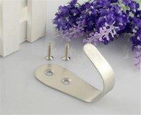 Wholesale Stainless Steel Kitchen Bathroom Hanger Hook Hook Unlined Single Hook Hook Hanger Hanging Door Hook Useful