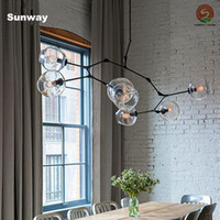 Wholesale 2016 Lindsey Adelman Chandeliers lighting modern lamp novelty pendant lamp natural tree branch suspension Christmas light hotel dinning room