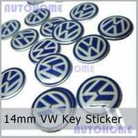 Wholesale 100Pcs New Metal Chrome MM VW Key FOB Logo Badge Emblem Sticker For VOLKSWAGEN VW Key Remote Sticker