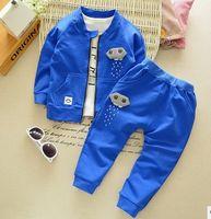 baby rain suits - baby boy clothing sets rains drops fashion coats t shirt pants set casual boys sports outwear suits years blue gray black